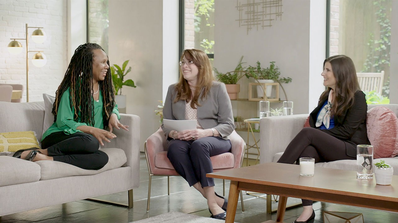 group of women discussing how MS may impact sex