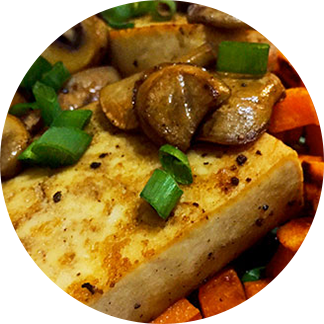 Healthy Recipes – Tofu steaks and vegetables